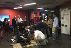 Inauguration du fauteuil Handiski